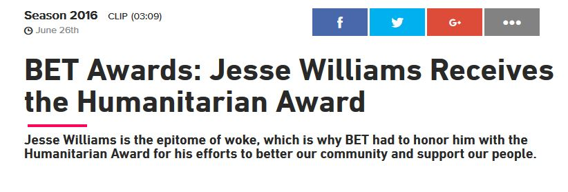 Jesse Williams Epitome of Woke BET